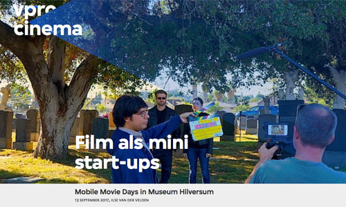VPRO Mobile Movie Days pers
